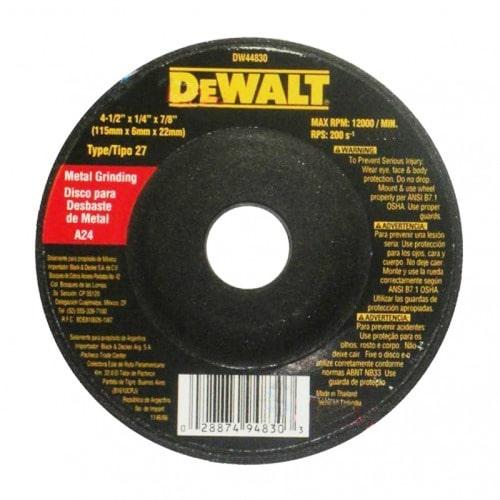 DISCO PULIR METAL 4 Y MED DEWALT