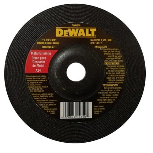 DISCO PULIR METAL DE 7 DEWALT